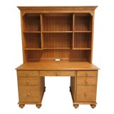Image of Ethan Allen Country Cottage Computer Desk and Hutch For Sale
