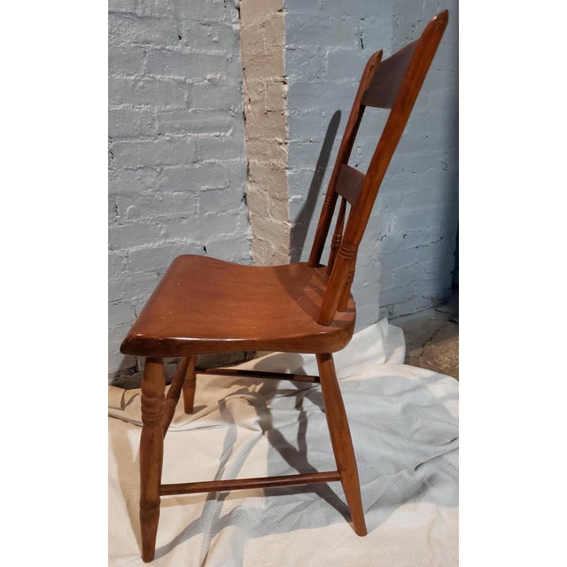 Wood 1825 Spindle Back Windsor Chair For Sale - Image 7 of 11