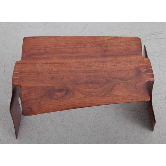 Mid-Century Modern Robert A. Schultz Studio Side Table in Solid Walnut For Sale - Image 3 of 8