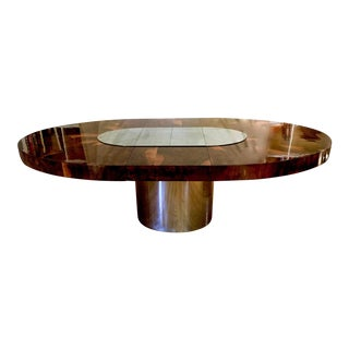 Paul Evans Race Track Burl Wood Oval Dining Table For Sale