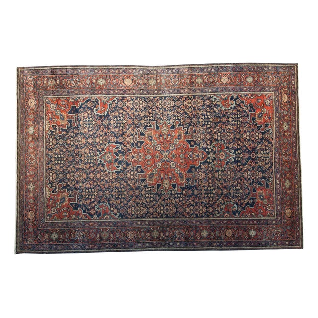 "Vintage Farahan Sarouk Rug - 4'3"" X 6'6"" For Sale - Image 11 of 11"