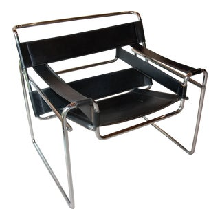 Vintage Wassily Chair, in the Style of Marcel Breuer For Sale