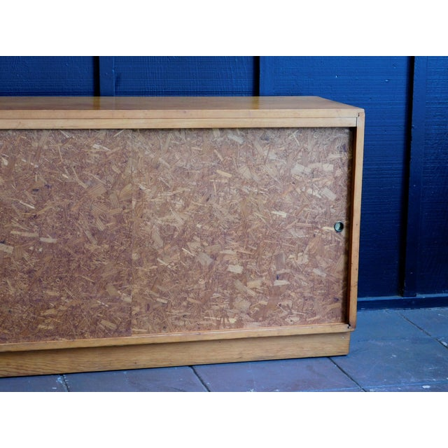 Wood Mid Century Wooden Cabinet For Sale - Image 7 of 9