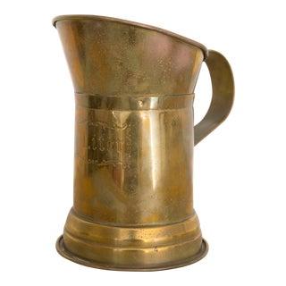 Vintage Brass Liter Pitcher For Sale