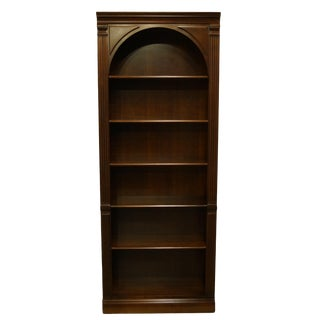 Vintage Hooker Furniture Traditional Style Cherry Office Bookcase Wall Unit For Sale