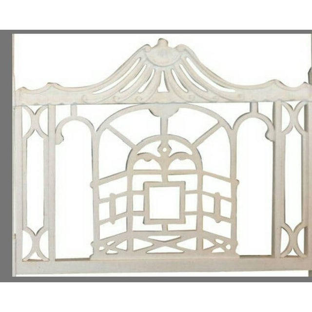 Vintage Chippendale Hollywood Regency Pagoda Twin Headboards - A Pair For Sale - Image 4 of 6