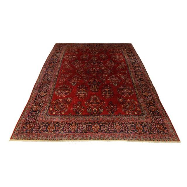 Fine Antique Persian Kashan - 8′11″ × 11′8″ - Image 2 of 2