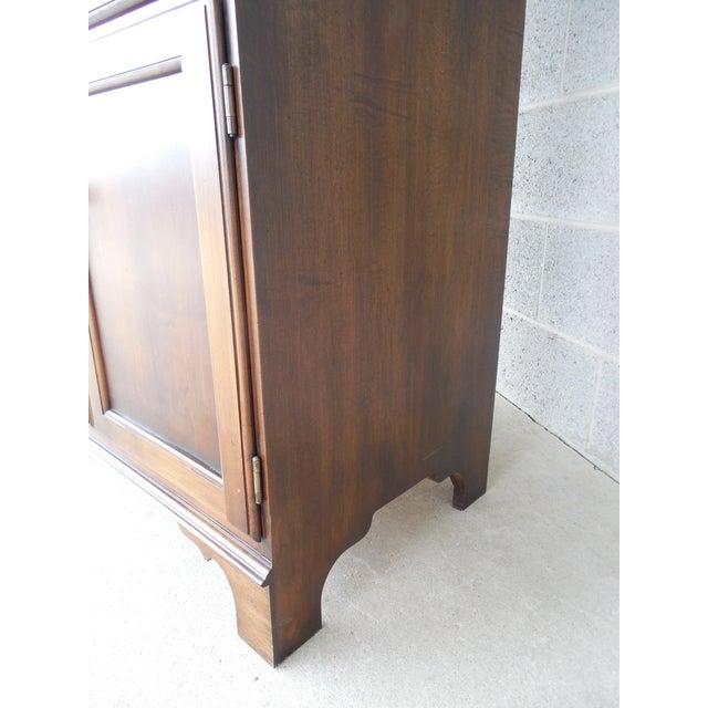 L. Hitchcock Harvest Stenciled 2PC Bookcase Cabinet For Sale In Philadelphia - Image 6 of 10