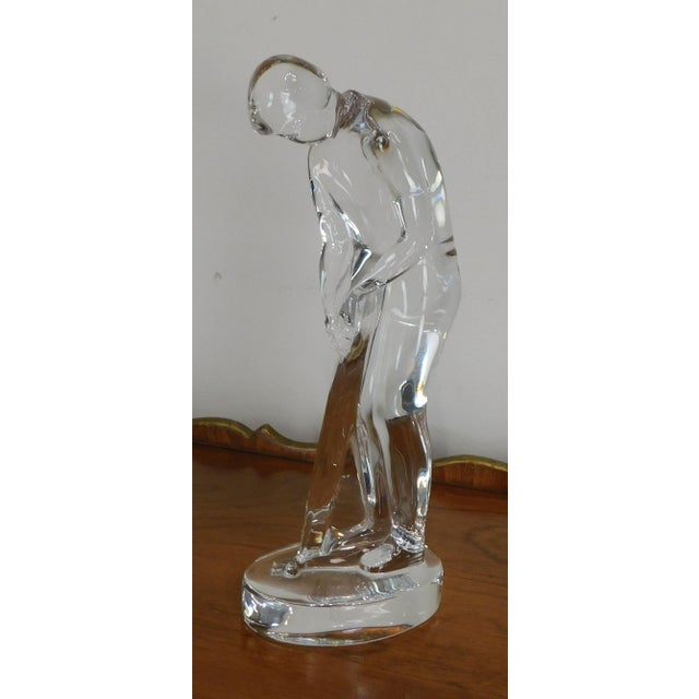 High Quality Crystal Figurine of Golfer by Baccarat