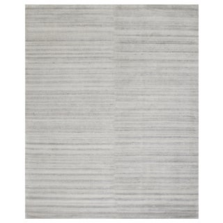Stark Studio Rugs Contemporary Oriental Bamboo Silk and Wool Rug - 10' X 14' For Sale