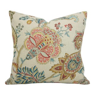 Jacobean Floral Pillow Cover For Sale