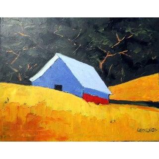 Lynne French California Plein Air Barn Landscape Painting For Sale