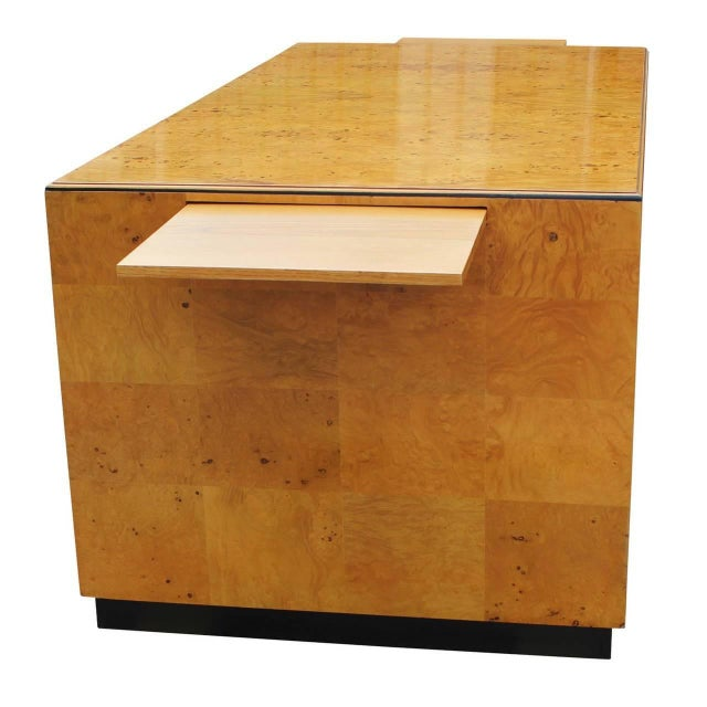 1970s 1970s Burl Executive Desk by Henredon For Sale - Image 5 of 7