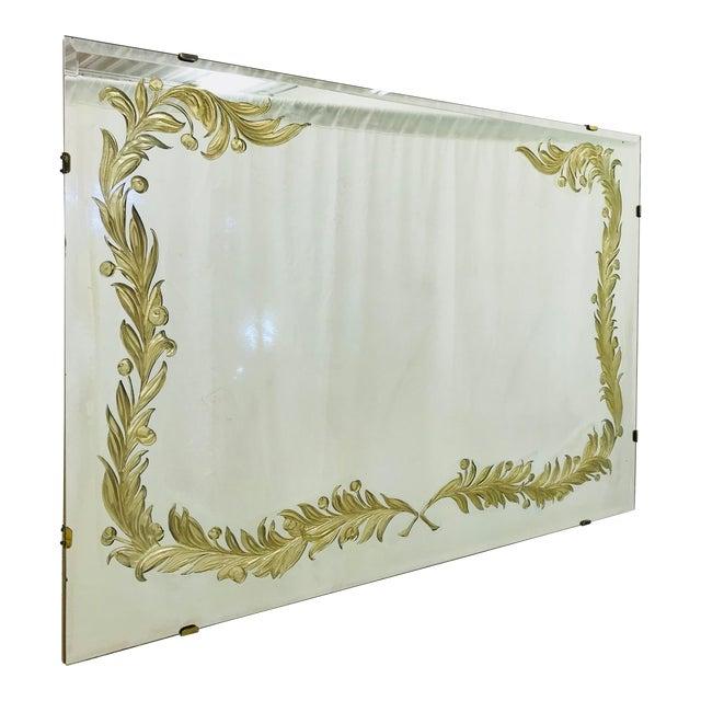 Antique Art Deco Gold Foil Mirror For Sale
