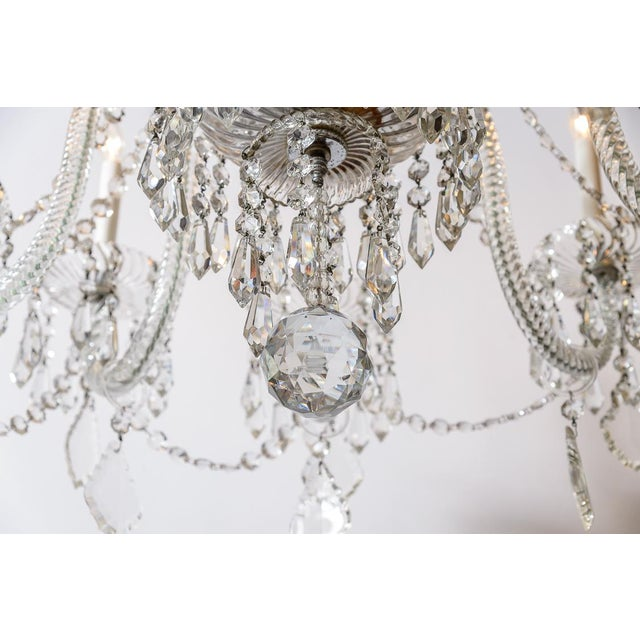Traditional Pair of Cut Crystal Chandeliers For Sale - Image 3 of 9