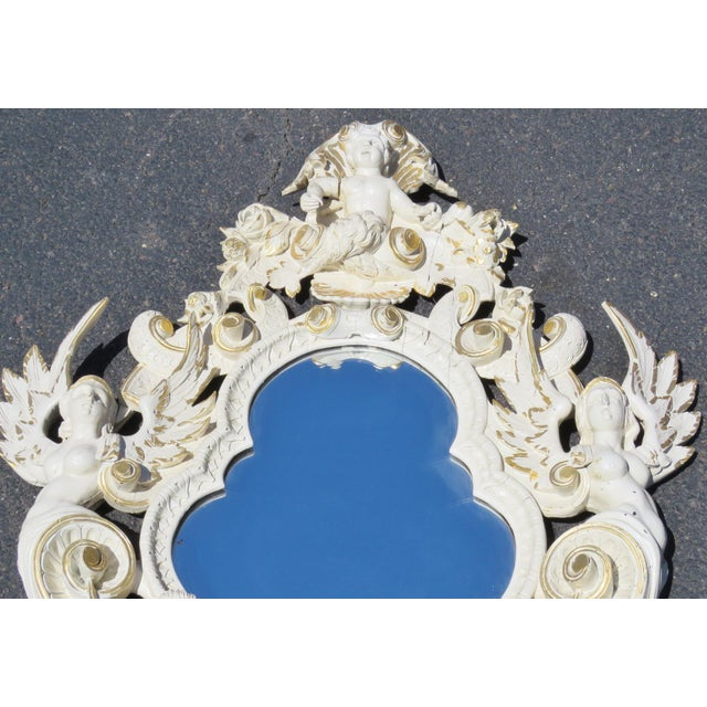 Cream & Gilt Carved Italian Mirror - Image 3 of 8