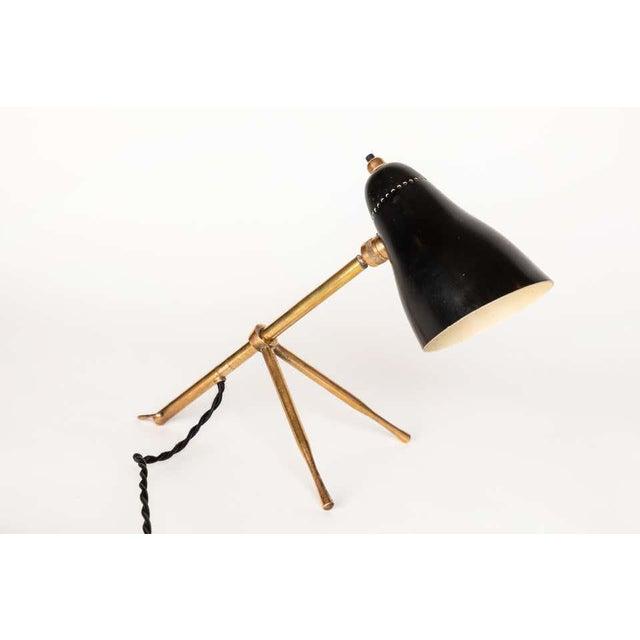 "Italian 1950s Giuseppe Ostuni ""Ochetta"" Wall or Table Lamp for O-Luce For Sale - Image 3 of 13"