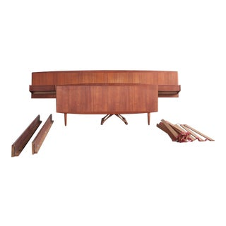 1960s Danish Modern Teak Bed Frame Double/Full For Sale