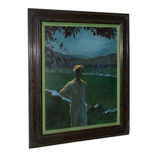 A Young Woman on a Summer Evening Oil Painting For Sale