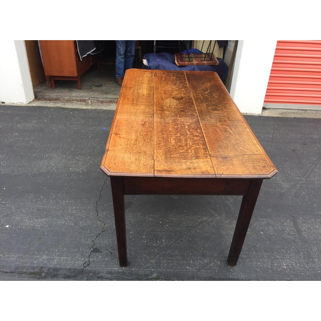 French Antique French Farm Table With Drawers For Sale - Image 3 of 13