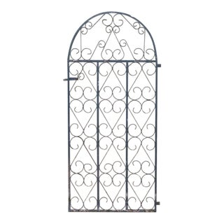 English Antique Dome Top Iron Gate For Sale