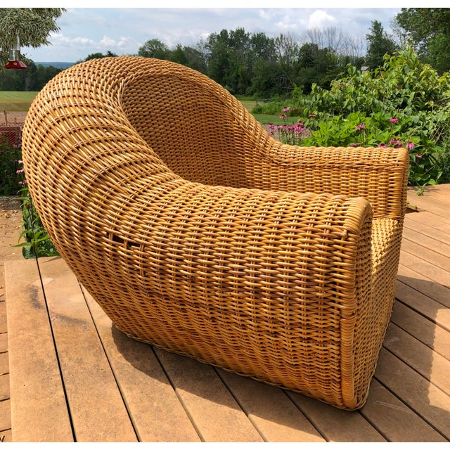 Vintage Wicker Orb Chair For Sale - Image 9 of 13