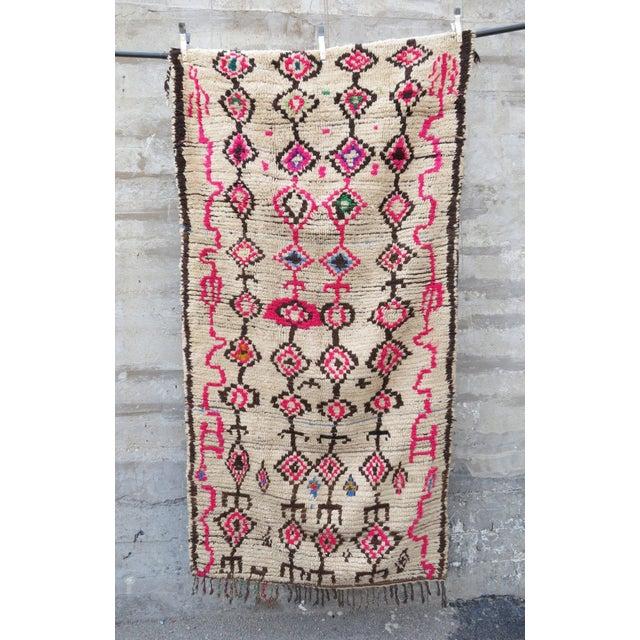 Pink Atlas' Moroccan Azilal Rug - 4′2″ × 8′10″ - Image 2 of 5