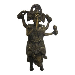 India Bronze Ganesh Figure For Sale