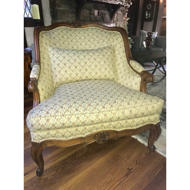 Feather Lillian August for Drexel Oversized Bergere Chair For Sale - Image 7 of 10