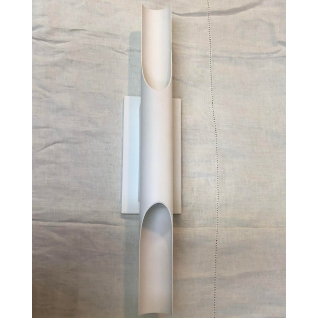 Boyd Lighting Halfpipe Wall Sconce in Matte White For Sale In Washington DC - Image 6 of 6