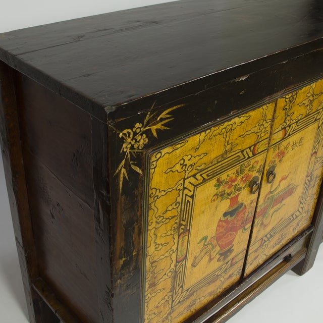 Asian Gold & Brown Mongolian Sideboard For Sale - Image 3 of 3