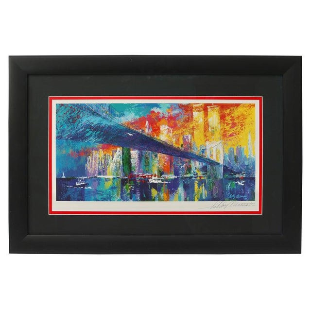 1995 Brooklyn Bridge Lithograph Ltd Ed Signed by American Artist LeRoy Neiman For Sale - Image 11 of 11