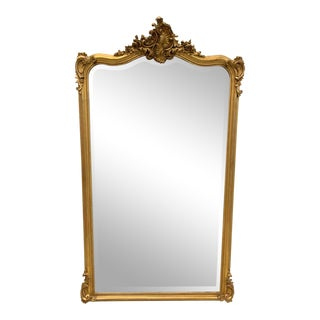 French Louis XV Giltwood Mirrors With Facetted Glass C.1900s For Sale