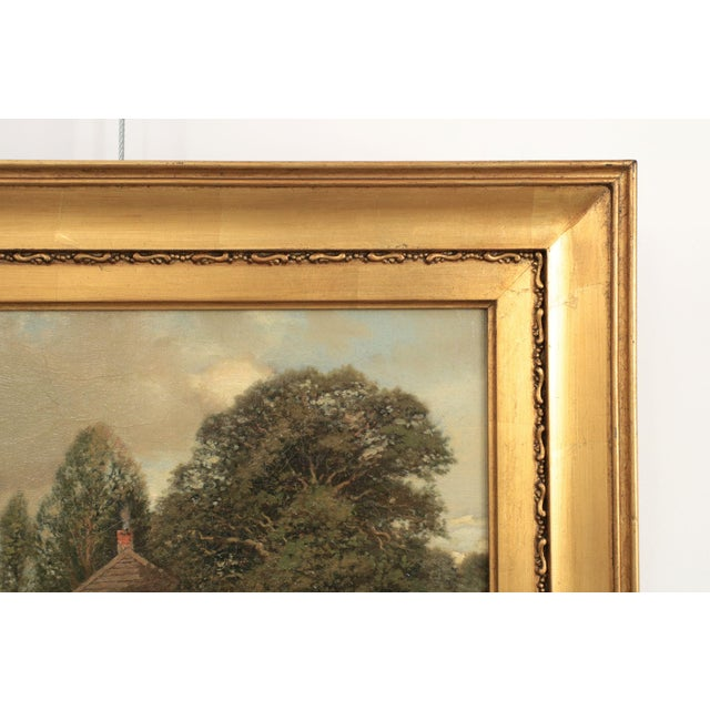 Realism Henry Pember Smith Landscape Painting of Cottage by Lake For Sale - Image 3 of 11