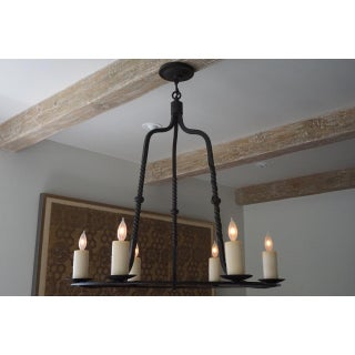Paul Ferrante 6 Light Wrought Iron Rope Chandelier Preview