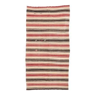 Striped Vintage Kilim Rug For Sale