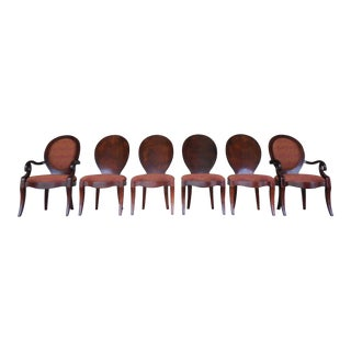 Henredon Set of 6 Art Deco Style Dining Chairs For Sale