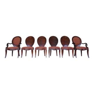 Henredon Set of 6 Art Deco Style Dining Chairs