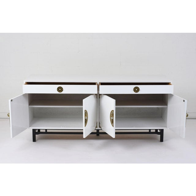 Mid-Century Modern Style Lacquered Credenza For Sale In Los Angeles - Image 6 of 10