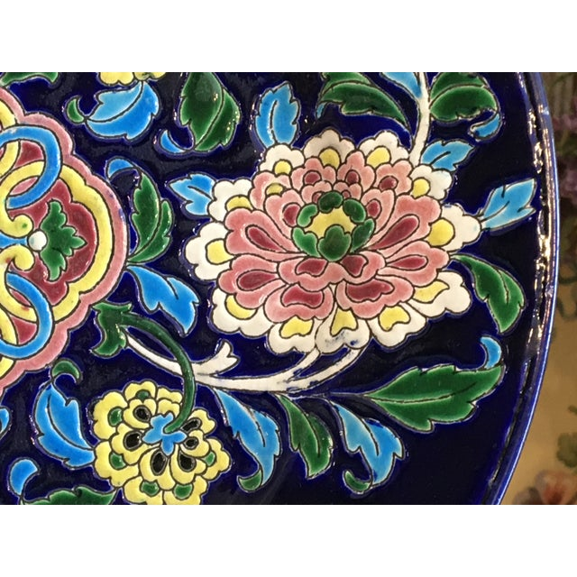 1920s Antique French Faience Colorful Longwy Plate For Sale - Image 5 of 13
