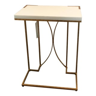 Gabby Amber C Gold Leaf Side Table For Sale