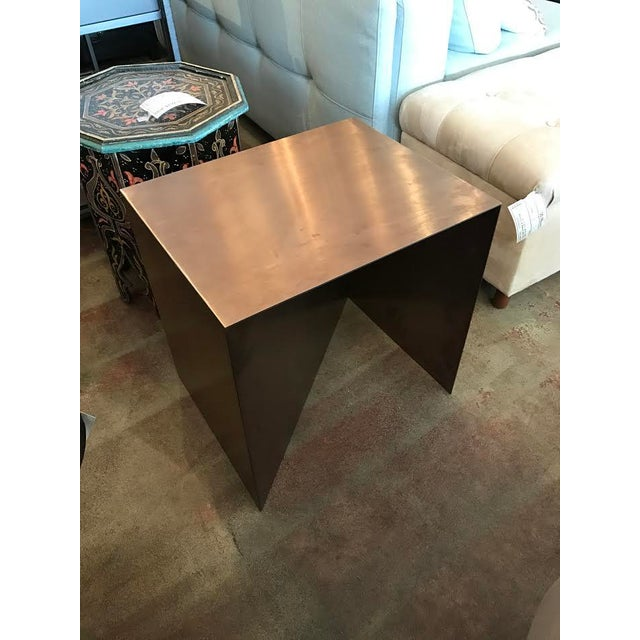 Hd Buttercup Metal Zigzag Side Table Chairish