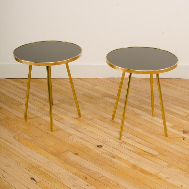 Italian Modern Brass Occasional Tables - a Pair For Sale In Philadelphia - Image 6 of 12
