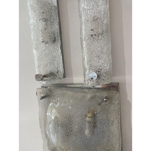 Mid-Century Modern Doria Leuchten Eisglas Sconces - a Pair