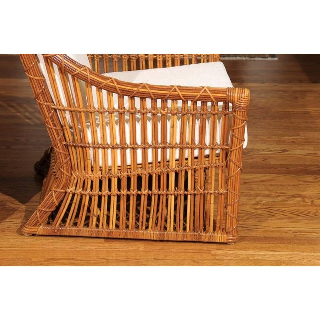 Magnificent Pair of Restored Vintage Rattan Club Chairs by McGuire - Image 10 of 10