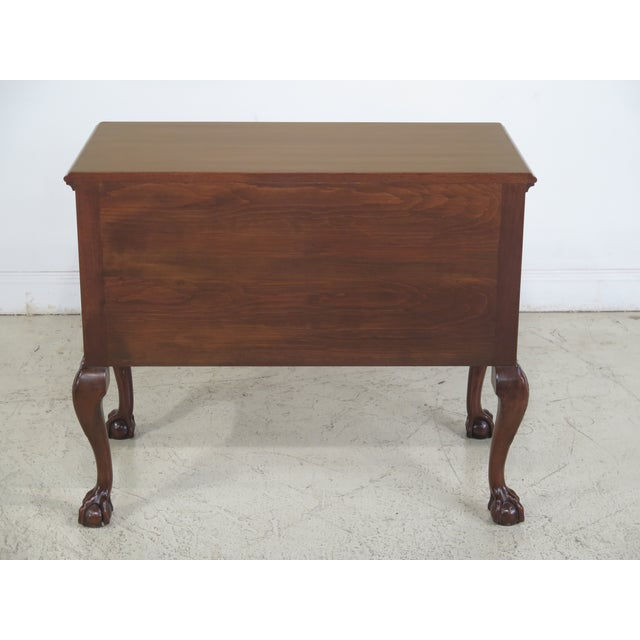 Kittinger CW-19 Colonial Williamsburg Clawfoot Mahogany Lowboy - Image 8 of 11