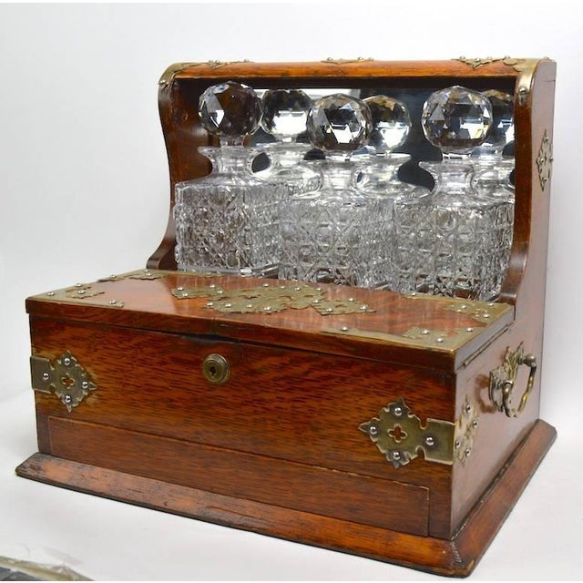 Mid 19th Century Mid 19th Century English Tantalus by Branah London - 4 Pieces For Sale - Image 5 of 12