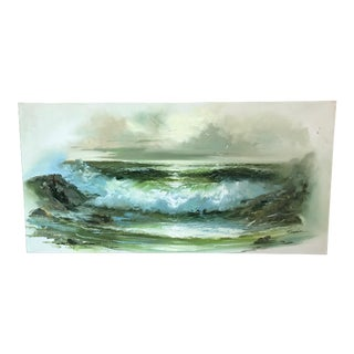 Rolling Waves Seascape Oil Painting