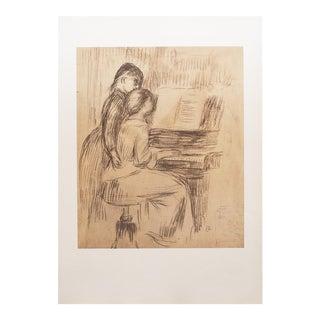 "1959 Auguste Renoir ""The Music Lesson"" Original Hungarian Photogravure For Sale"