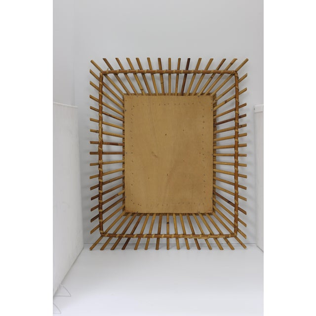 Mid-Century French Bamboo Wall Mirror - Image 2 of 3